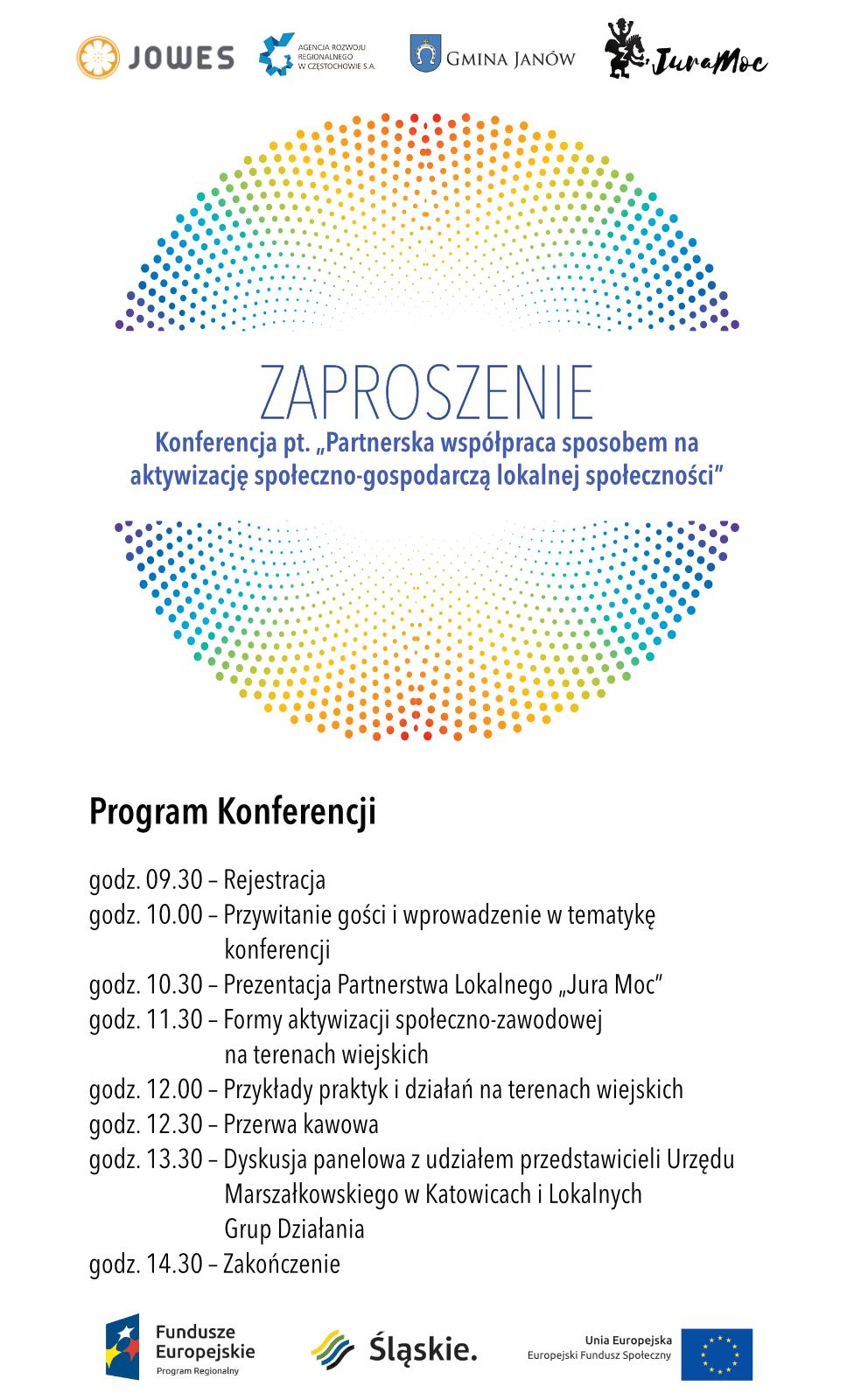 Zaproszenie Na Konferencję Jowes Jurajski Ośrodek Wsparcia